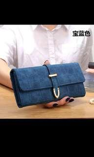 BNWT BNIP ❤ Blue Fashionable Classic Elegant Long Wallet