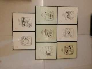 retro hanging picture frames for decoration