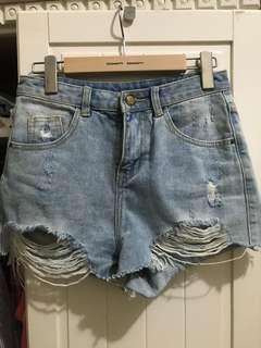 🚚 正韓牛仔短褲M