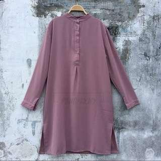 Dusty pink long tunic
