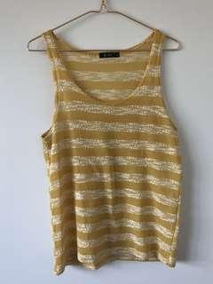 Yellow Striped Knitted Top