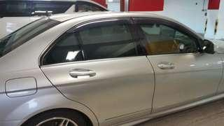 Benz C200 W204防曬隔熱車窗網