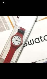 Red swatch watch