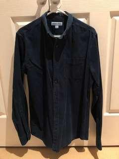 Men's Small Navy Corduroy Shirt - Country Road