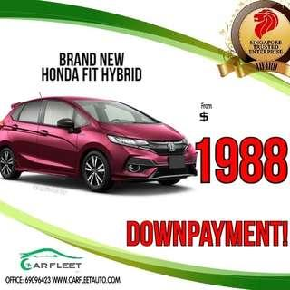Honda Fit Hybrid. LOW Downpayment! $1888 ONLY!! Lai Lai Lai! No Gimmick!