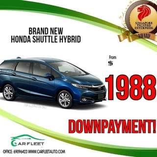 Honda Shuttle Hybrid. LOW Downpayment! $1888 ONLY!! Lai Lai Lai! No Gimmick!