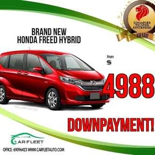 Honda Freed Hybrid. LOW Downpayment! $4888 ONLY!! Lai Lai Lai! No Gimmick!