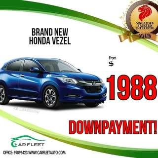 Honda Vezel. LOW Downpayment! $1988 ONLY!! Lai Lai Lai! No Gimmick!