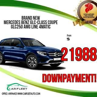 Mercedes Benz GLC-Class Coupe GLC250. LOW Downpayment! $21988 ONLY!! Lai Lai Lai! No Gimmick!