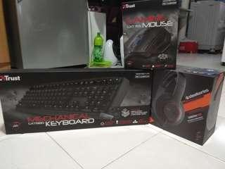 Gaming Keyboard, Mouse & headset