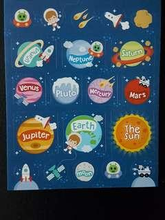 [INSTOCK] BN Solar System Planets Stickers