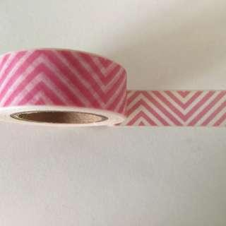 Pink Vertical Waves GJ1035 Washi Tape 15mm x 10m
