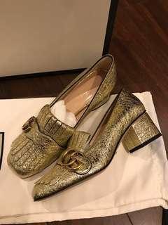 New 2018 Gucci gold heels 高跟鞋 org7100