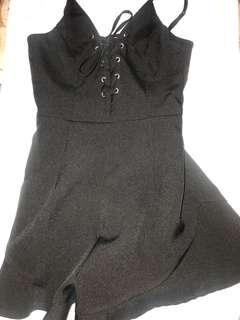 Brand new black lace up playsuit