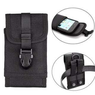 🚚 Tactical Phone Holder Pouch / Outdoor Molle Military Utility Waist Holster Mini Pocket Sports Bag with Belt Clip 1000D Nylon for iPhone X Max 8 7 Plus Huawei Xiaomi Oppo Vivo Samsung Galaxy Note for Phones Screen no bigger than 6.5 inch