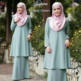 Flare Kurung Dusty Mint