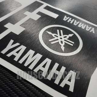 Iu unit slim brushed black with 'Yamaha logo & Brand Name'
