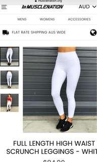 Muscle Nation White XS tights brand new