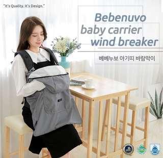韓國直送🍃秋冬款 Bebenuvo 保暖,防風,擋雨 揹帶用披風