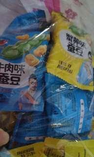 口水娃蠶豆蘭花豆大陸零食童年零食