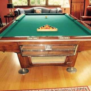 桌球Brunswick pool table 10 x 5 ft/呎 全套full set