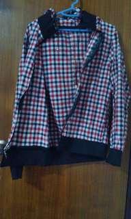 🎁紅白格子外套jacket
