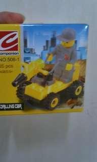 全新LEGO drilling car推土機