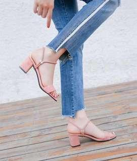 [PO] Super Comfy Basic 2 Way Velvet Mid Block Heels
