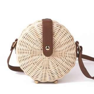 Women Bali Rattan Beach Crossbody Bag