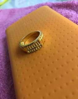 916 Gold Ring, lovely abacus design 💙💙💛💛❤️❤️💜💜💚💚