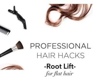 NO MORE FLAT LIMPY HAIR! Voluminous Root Lift Curler Set for Flat Hair, DIY, Fine/Limp/ Thinning hair, after pregnancy, Unisex