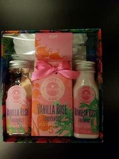 Vanilla Rose bath beauty set