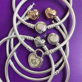 Authentic Pandora Bracelets 17cm