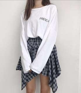 [INSTOCK] Korean Ulzzang Oversize Loose Letter Long Sleeve Pullover Top