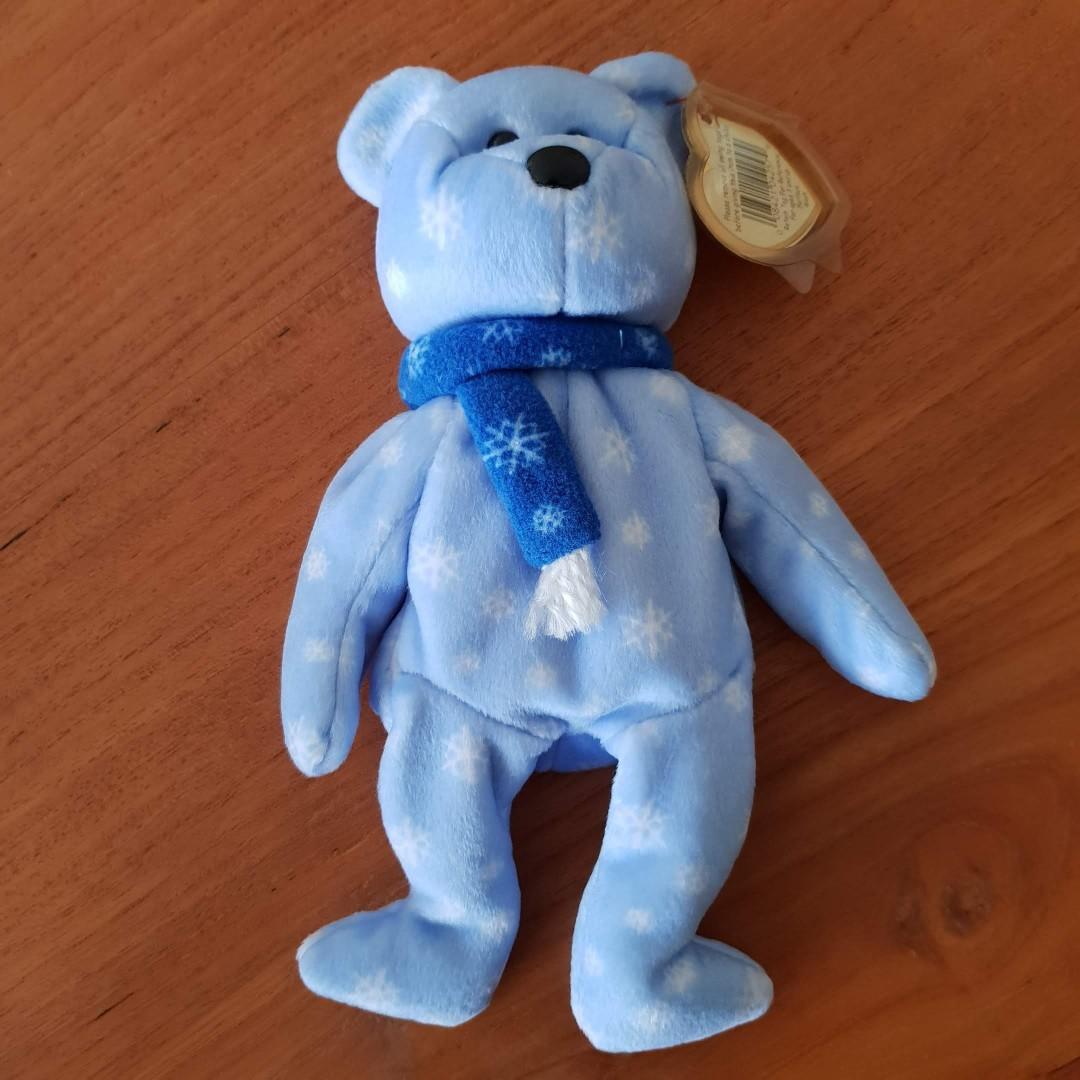 1e5af30f6ee 1 Avail. GENUINE TY BEANIE BABY - 1999 Holiday Teddy  RARE  Brand ...