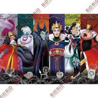Disney 反派 壞蛋 奸角 Puzzle Decoratio 裝飾 砌圖 拼圖 500pcs Evil Darkness 邪惡的黑暗 邪惡皇后 女巫 黑魔后 鐵鈎船長 Cruella 庫伊拉 紅心皇后 Ursula 烏蘇拉