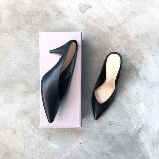charles and Keith - Edgy Black Mules
