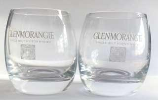 """A pair of Glenmorganie Scotch Whisky Tumblers, 3 1/2""""high, New"""