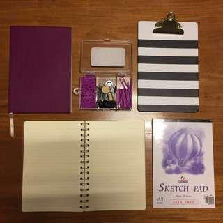 Craft Bundle (Scribe journal, Kate spade ins clipboard, & more)