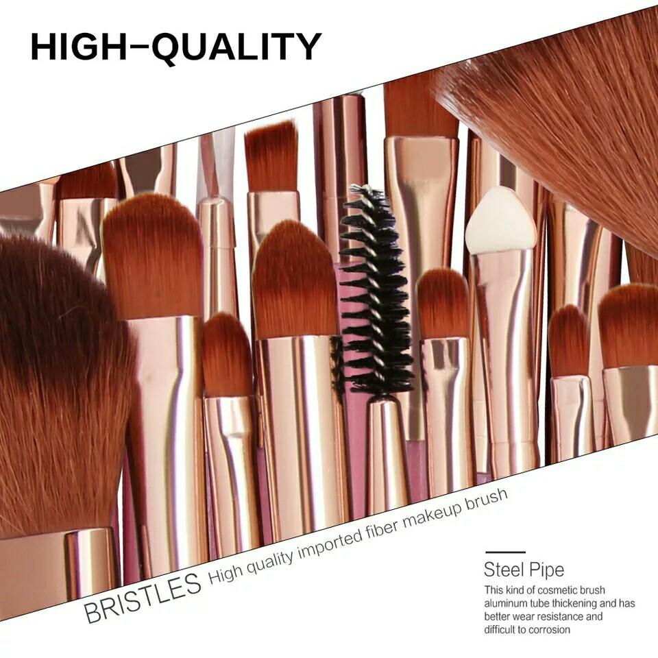2018 Popular 25pcs Makeup Brushes Set Beauty Foundation Power Blush Eye Shadow Brow Lash Fan Lip Face Make Up Brushes