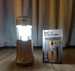 🚚 歌林 兩用太陽能露營燈+風扇