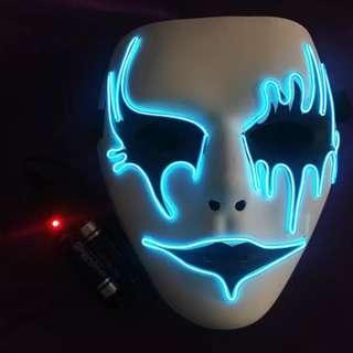 (2pc/$200;4pc/$360) 節日玩意發光面具AA電操作 (唯多) (neon mask)