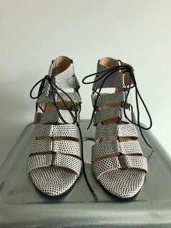 Loeffer Randall exotic skin heels size 7.5