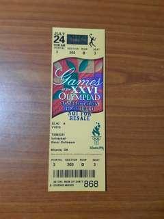 Rare unused 1996 26th Olympic Games at Atlanta US Ticket