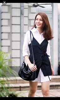 Lovet 2 piece drawstring vest dress