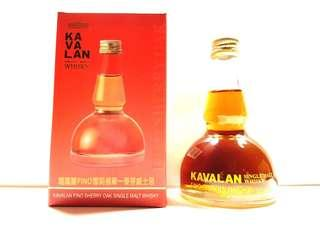 KAVALAN FINO SHERRY OAK SINGLE MALT WHISKY 50ML POT STILL SHAPE MINIATURE