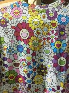 TAKASHI MURAKAMI X VANS COLLOB RAINBOW FLOWER TEE