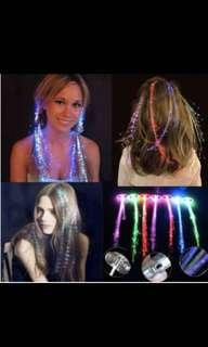 LED Hair Clips (flashing multi color)