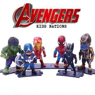 MARVEL AVENGERS INFINITY WAR FIGURE KIDS NATIONS AVENGERS TOY THANOS BLACK PANTHER SPIDERMAN HULK FIGURE