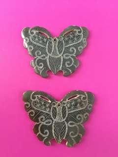 青玉蝴蝶一對